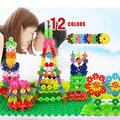 100 pieces Kid Baby Building Block Snowflake Plastics DIY Early Educational Learning Toys