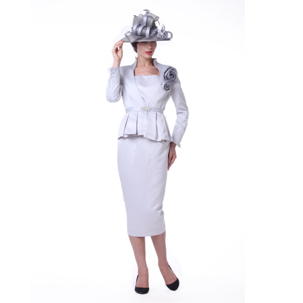 85bfe6e94 Kueeni Women Church Suit Ladies Formal 3pc Jacket Vest Skirt For Special  Occasion V-neck Large Size Elegant Lady Party Dresses