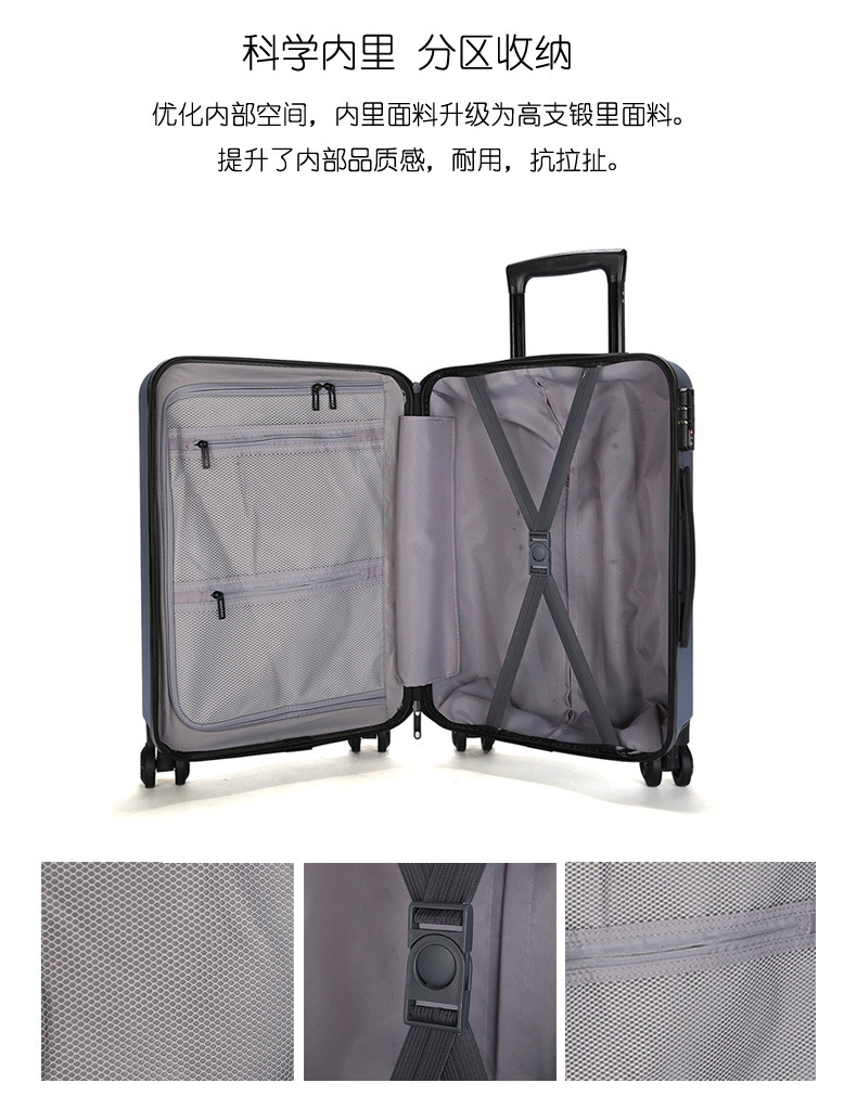 ZYJ Travel Trolley Luggage Men Women Alloy Business Solid Rolling Scratchproof Airplane Suitcase Luggage Spinner Wheels Trunk (22)