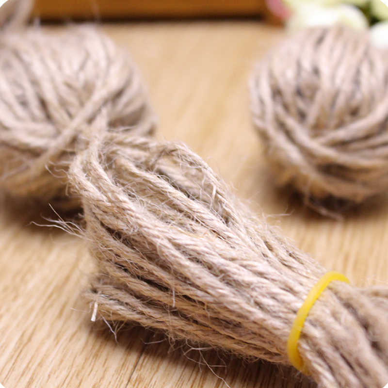 buy soft jute twine 40meter natural sisal rope 3mm rustic tags wrap wedding party decoration craft burlap string cord gift packaging from - Sisal Rope