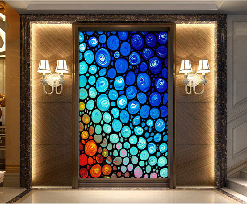 Custom 3D large mural,colorful abstract circle rainbow oil painting papel de parede ,living room TV wall bedroom wallpaper large mural papel de parede european nostalgia abstract flower and bird wallpaper living room sofa tv wall bedroom 3d wallpaper
