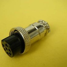 2 conector de micrófono Vintage de energía de Radio de 7 pines 7006