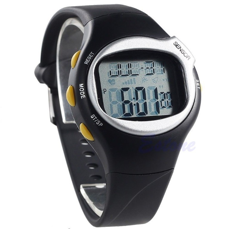 New Sports Running Pulse Heart Rate Monitor Wrist Watch Pedometer Calories Counter Watch waterproof pulse heart rate monitor watch calorie counter sport exercise hmy