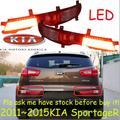 Carro-styling, KlA SportageR luz traseira, 2011 ~ 2014, chrome, LED, navio Livre! 2 pcs, KlA SportageR nevoeiro luz, KlA K5 luz diurna, sportage R