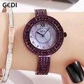 GEDI для женщин часы Роскошные Relogio Feminino RoseGold Мода Montre Femme дамы наручные женские часы 2019 Лидирующий бренд со стразами