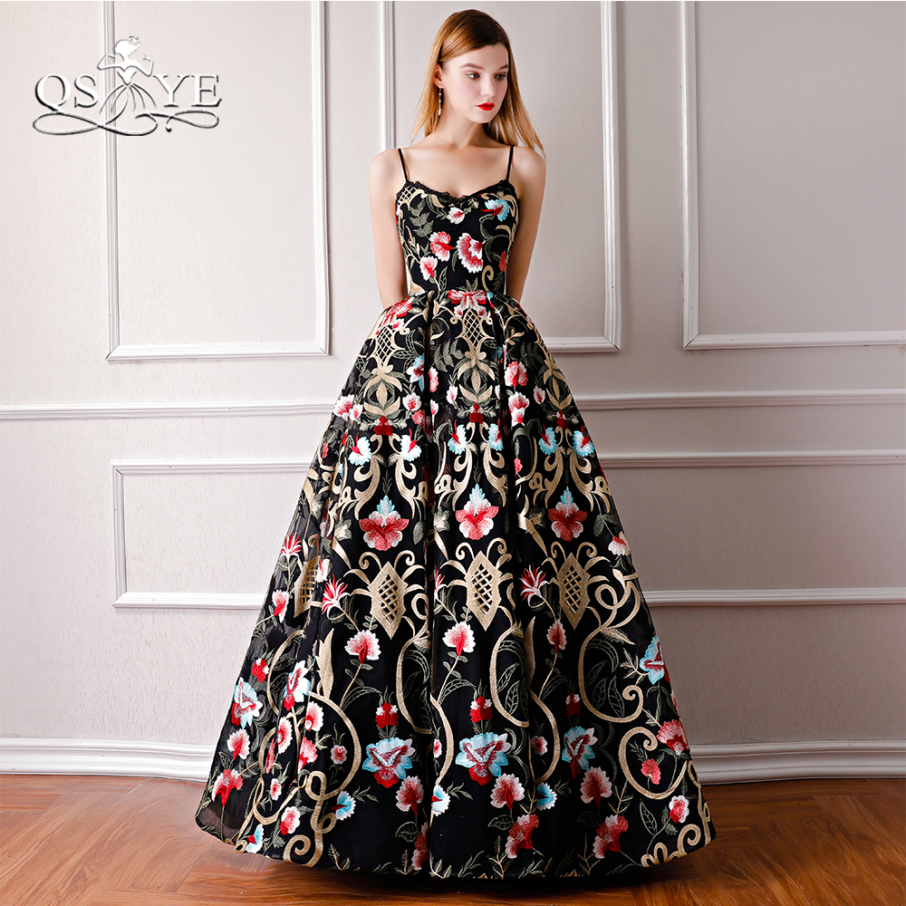 a2081157c35b9 US $223.2 10% OFF QSYYE 2018 New Vintage Saudi Arabia Formal Evening  Dresses Spaghetti Straps Sweetheart Floor Length Lace Prom Dress Party  Gown-in ...