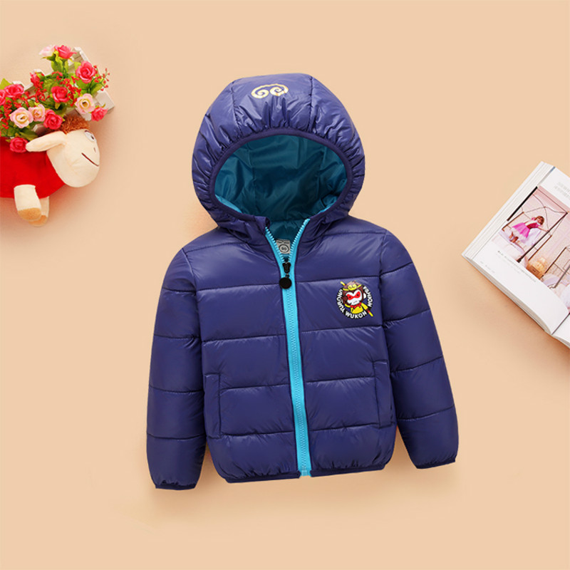 ФОТО New brand winter warm down coat child short design thickening outerwear children's clothing baby kids down hooded jacket parkas