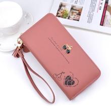Women's Wallet Ladies Leather PU Purses Clutch Long Zipper Phone Holder Female Wallets Tassel Coin Pocket Card Money Carteras цены онлайн
