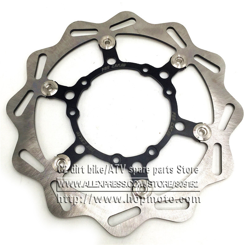270MM Oversize Front Floating Brake Disc Rotor CR125 CR250 CRF ENDURO (HM) 230CC CRF X R 250 450 Motocross Dirt Bike Supermoto 270mm front brake disc rotor for cr 125 250 500 crf 250r 250x 450x 450r 230f motocross supermoto enduro dirt bike off road