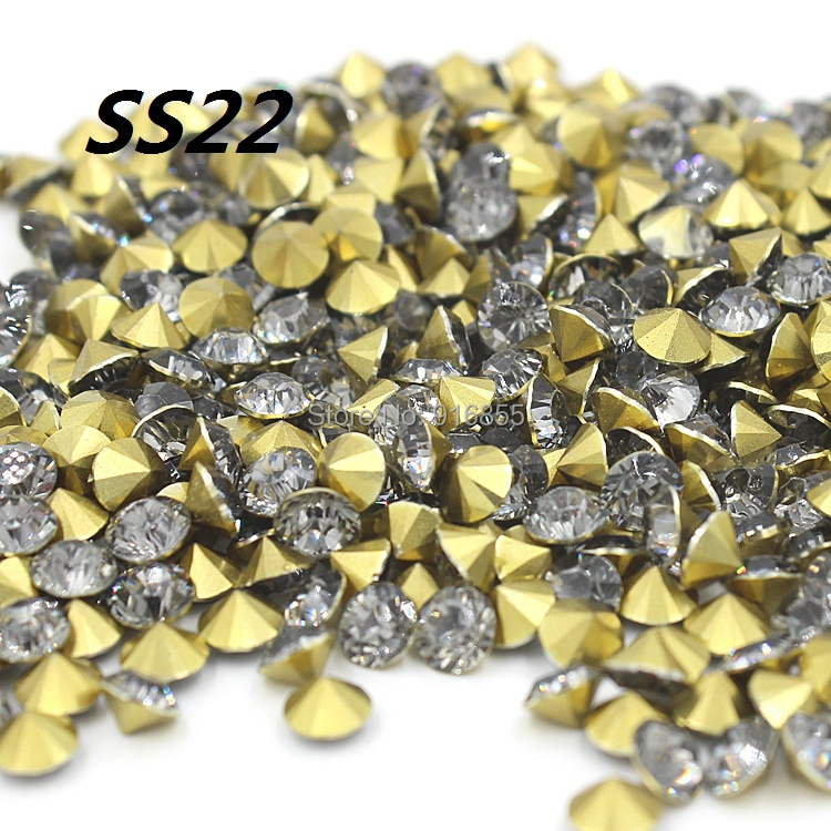 Free shipping Fashion SS22 4.9-5.1mm 2880pcs(20G) Transparent gray Resin  rhinestones Pointback 2ce0a132ced7