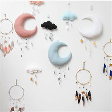 New childrens room home moon and stars wall hanging ornaments decoration kids