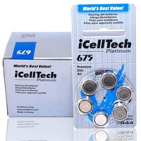 Free Shipping 60pcs iCellTech High Performance Hearing Aid Batteries Zinc Air battery 675/A675/PR44 Battery for BTE Hearing aids