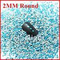 [Varejo] Frete grátis cor azul 2 MM Forma Redonda 1000 unidades/pacote Prego 3d Decoração Art