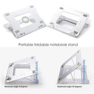 Image 3 - 유니버설 휴대용 노트북 스탠드 노트북 스탠드 홀더 접이식 알루미늄 삼성 전자 맥북 에어 13 프로에 대한 조절 가능