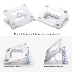 Image 3 - Universal Portable Laptop Stand Notebook Stands Holder Folding Aluminum With cooling Adjustable For Samsung MacBook Air 13 Pro