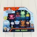 8Pcs/Set Octonauts figure toys peso captain Barnacles kwazii shellington Dashi Tweak Inkling octonauts brinquedos
