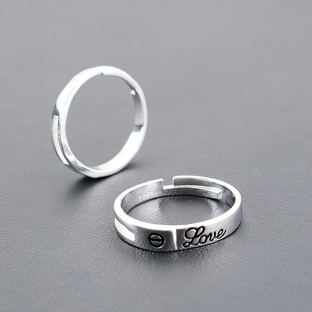 lover steel a rings titanium price engravable personalized concise products bands for pair couple style