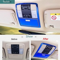 Tonlinker Cover Case Stickers For Toyota PRADO 2016 17 Car Styling 2 PCS Stainless Steel Read