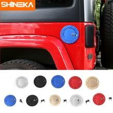 Shineka стайлинга автомобилей алюминиевый сплав Топливные баки для мотоциклов Кепки крышка с ключом Обложка газа дверь для Jeep Wrangler JK 2007 +
