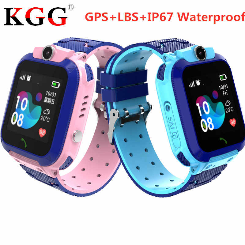 Kid GPS Smart Watches IP67 Waterproof Baby Watch for Children LBS SOS Call Location Finder Locator Tracker Anti Lost Monitor