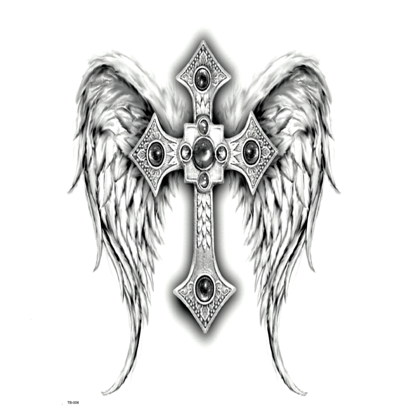 Full Back The Cross Waterproof Temporary Tattoo Men Women God S Wings Body Art Big The Flash Tattoo Designs Maquiagem Tatoos Temporary Tattoos Men Waterproof Temporary Tattooswaterproof Temporary Tattoos Men Aliexpress
