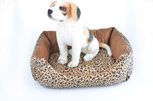 Free Shipping 2 in 1 Luxury Leopard Kennel Winter Warm Doggy Cat Pet Bed Mascotas House Puppy Cushion Animal chihuahua yorkshire