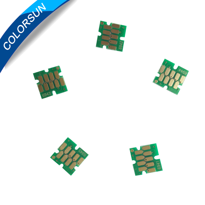 5pcs T6941-T6945 One time chip For Epson SureColor T3000 T3070 T5070 T7070 T3200 T5200 T7200 T3270 T5270 T7270 Printer