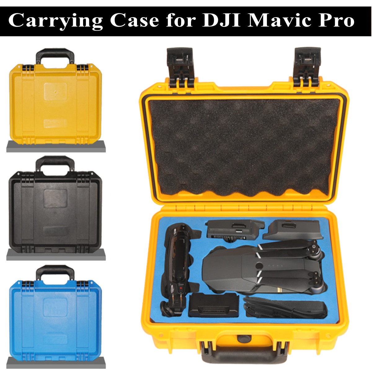 Carring Case Protective Portable Box Waterproof Rainproof ABS+EVA Hard Shell Bag For DJI Mavic Pro RC Drone