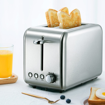 Deerma DEM - SL281 770W Bread Baking Machine Electric Toaster Household Automatic Breakfast Toast Maker Stainless Steel 1