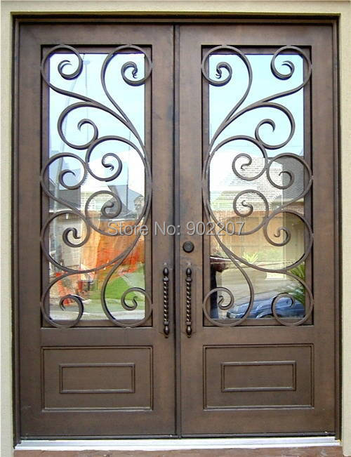Shanghai Henchuang wrought iron entry door manufacturer model hench ied13