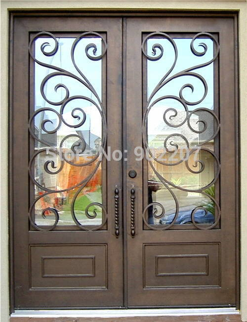 Hench 100% Steel Metal Iron  Metal Doors For Homes