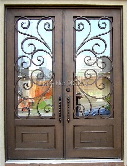 Hench 100% Steel Metal Iron  Metal Doors For Homes