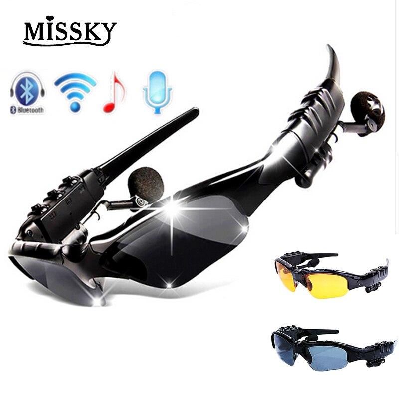 Smart Bluetooth Sunglasses Glasses Wireless Music Sunglasses Outdoor Bilateral Stereo MP3 Headphones Handsfree Headset Glasses