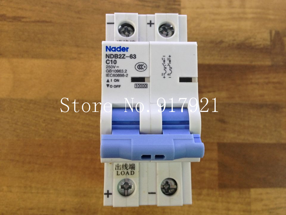 [ZOB] Nader letter NDB2Z-63 C10 2P10A 250VDC to ensure genuine DC circuit breaker --5pcs/lot