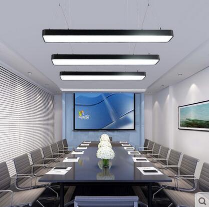 X Moderne einfache LED büro kronleuchter lange streifen von ...