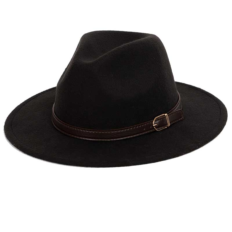 a73790b415c Dropwow Wool shallow fedora warm adjustable men s fashion hats ...