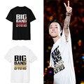 Kpop bigbang альбом сделал красный родоначальник футболка с коротким рукавом о шея gd taeyang футболка повседневная vip плюс размер черный топ k-pop тройники