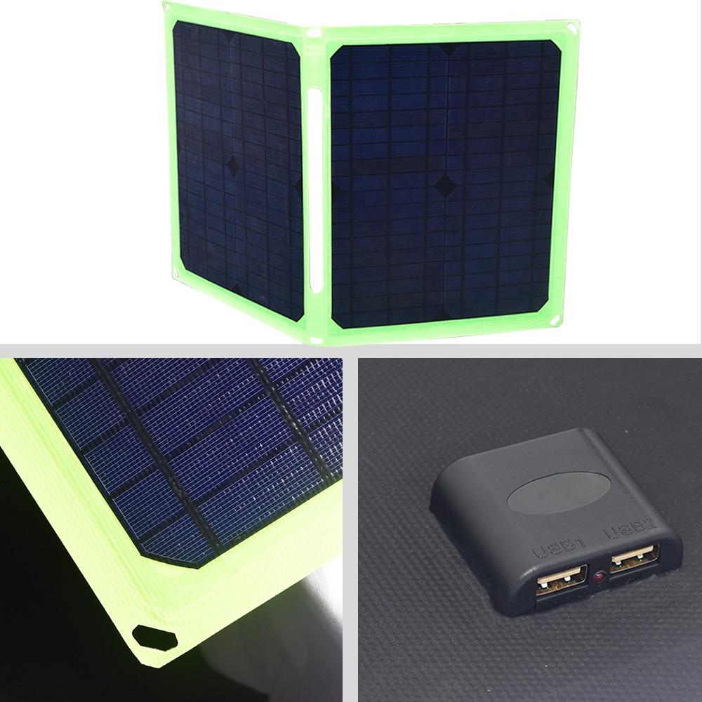 Panel Solar 40W 5V cargador de Panel Solar plegable portátil para celular batería de coche Camping al aire libre Sammenfoldende solpaneador