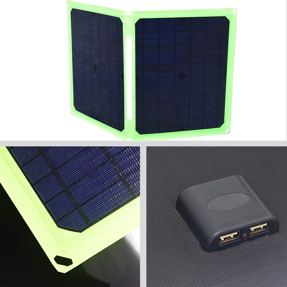 Solar Panel 40W 5V Portable Foldable Solar Panel Charger for Cell Phone Car Battery Camping Outdoor Sammenfoldende solpaneler in Solar Cells from Consumer Electronics
