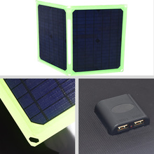 все цены на Solar Panel 40W 5V Portable Foldable Solar Panel Charger for   Cell Phone Car Battery Camping Outdoor Sammenfoldende solpaneler онлайн