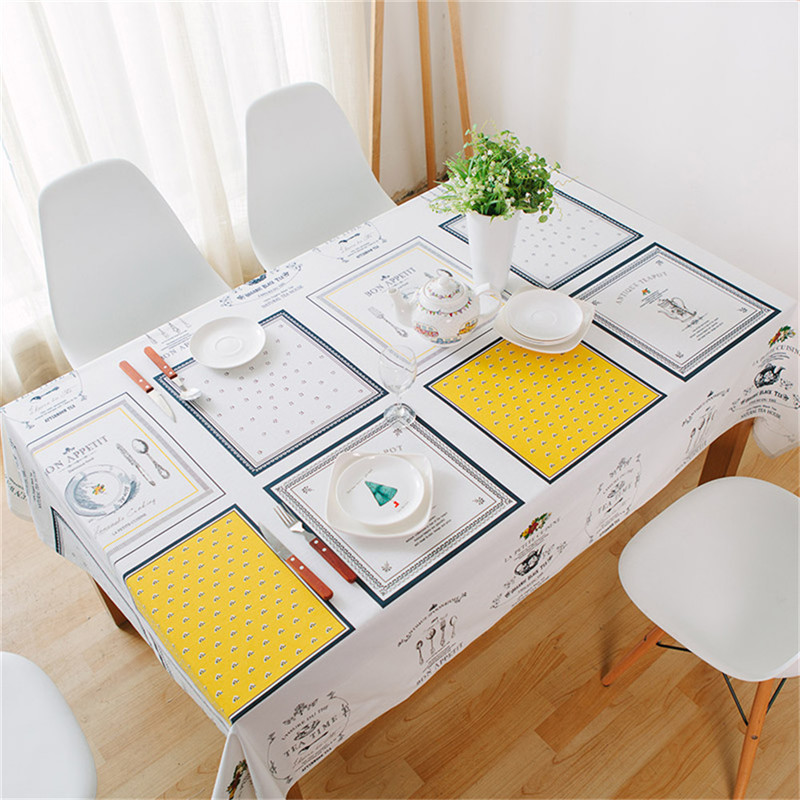 Cotton and Linen Hotel Tablecloths Tablecloth Coffee Shop Western Restaurant Table Cloth