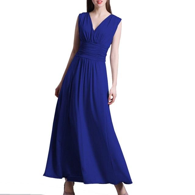 ce62220e8714 1 pc Quality Milk Silk Slim Long Gray Dresses XL Elegant gowns Formal V  Neck Ladies
