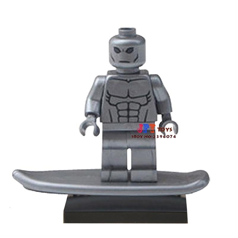 Single Sale star wars superhero Silver Surfer font b building b font blocks font b model