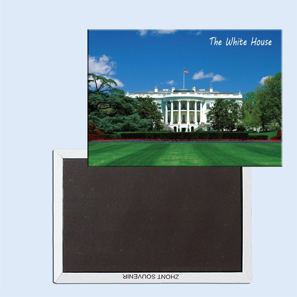 Travel Refrigerator Magnets 78*54mm,Presidential Suite, The White House, Washington, DC Travel Rigid Fridge Magnets 25017