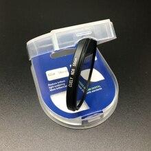 40.5 46 49 52 55 58 62 67 72 77 82mm ND8 nötr yoğunluk filtresi için kutu ile canon nikon sony DSLR lens