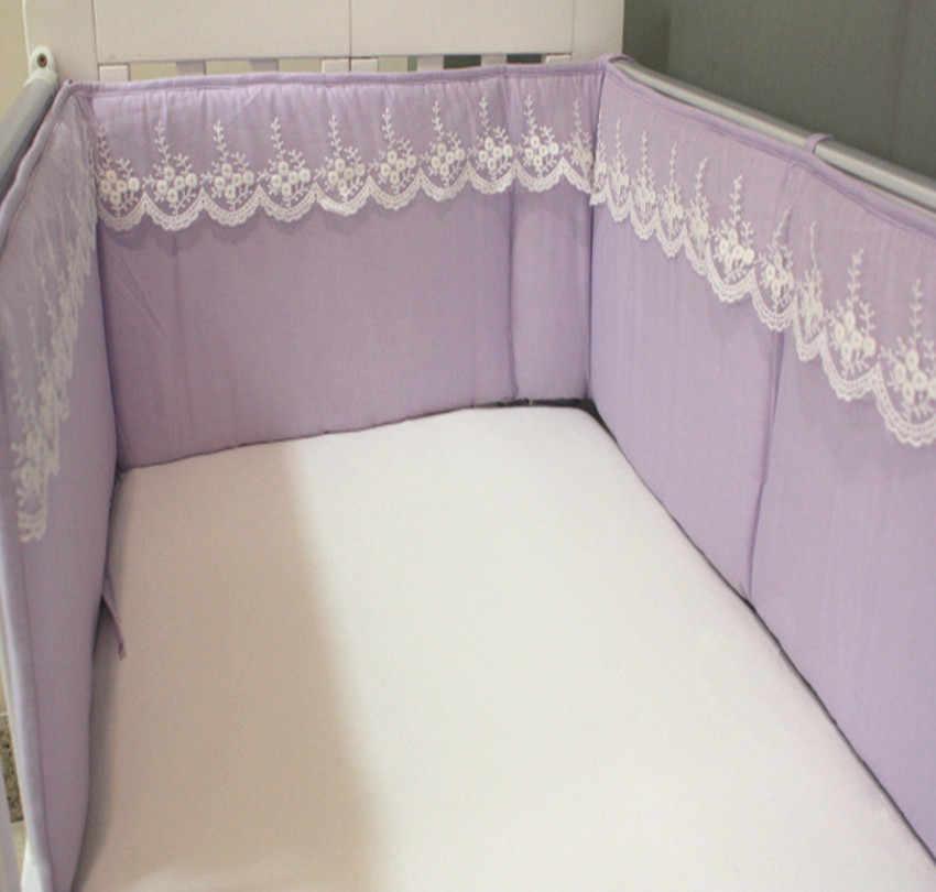 230*28 см детский бампер удобный мягкий хлопок Радужный цвет кружево половина вокруг детская кроватка бампер кроватка детская кровать бамперы постельные принадлежности