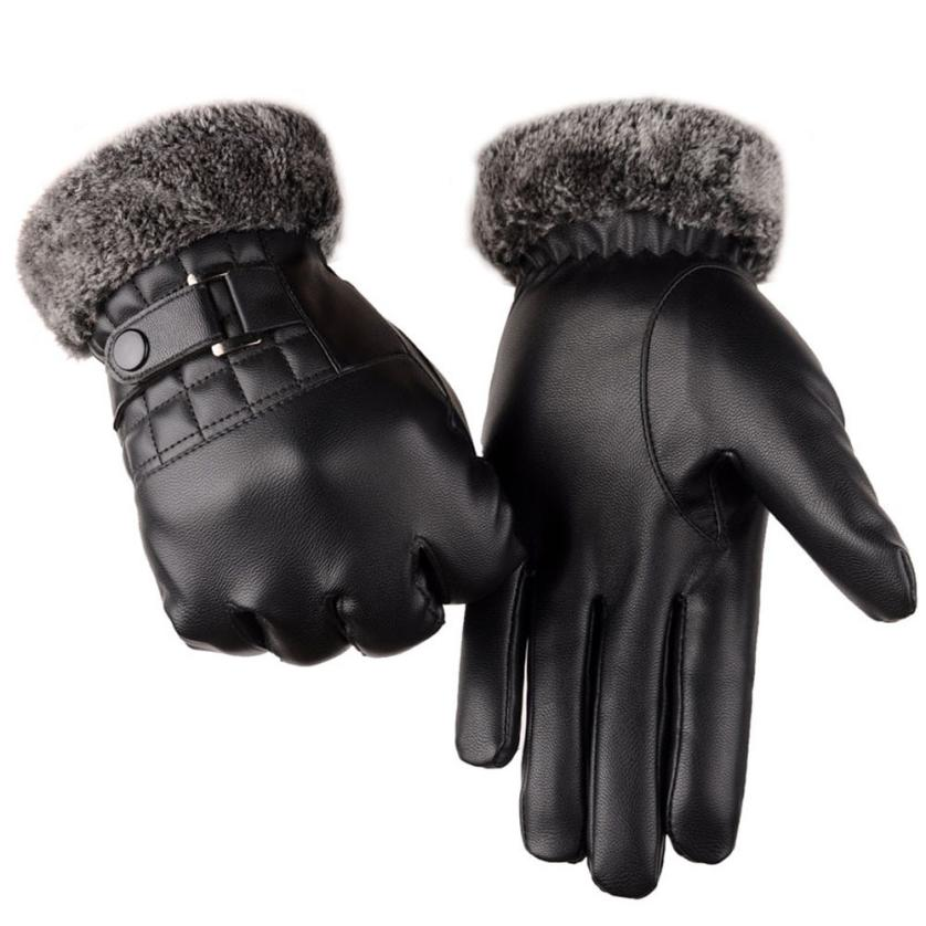 New Fashion Customized Gloves Men Winter Leather Driving Gloves Adults Motorcycle Ski Snow Snowboard Mittens Luva Couro guantes