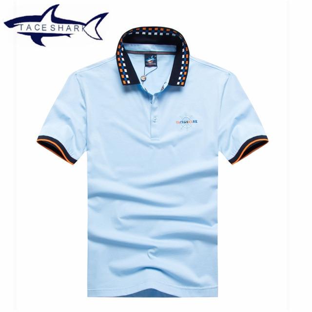 Hight Original Brand Clothing Short Sleeve Shark Logo Polo Wear Tace
