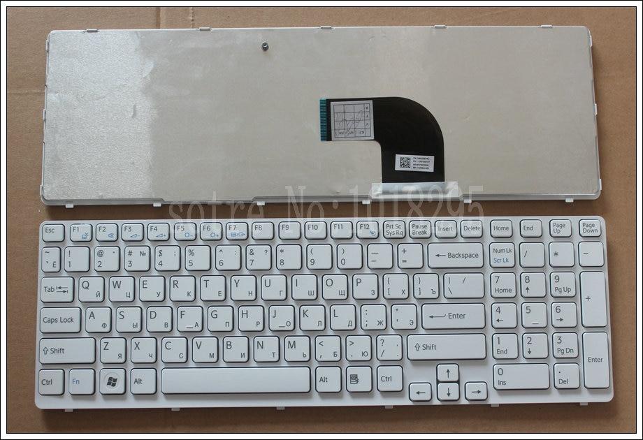 NEW FOR sony vaio SVE151J13M SVE1511X1EB SVE1512E6EW SVE1512F1RW SVE1512N1RW sve151J11V witte ssian RU Laptop Keyboard