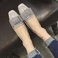 Pu de la Nueva Llegada del Color Puro Estilo Zapatos Planos Para Mujer de Verano arco Zapatos Planos de Las Mujeres Slipon Zapatos Moderna Brillante Consejo Encuadernación Meseta